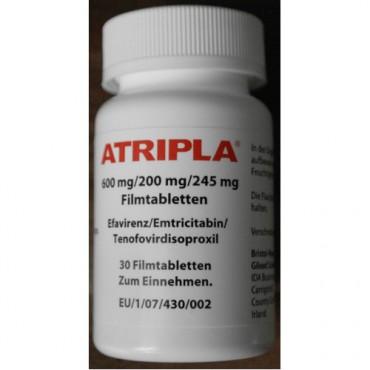 Купить Атрипла Atripla 600 mg/200 mg/245 mg 30 таблеток в Москве