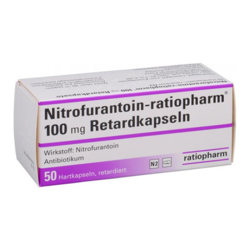 Нитрофурантоин Nitrofurantoin100 мг/50 капсул