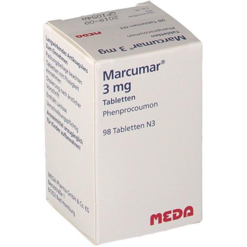 Маркумар Marcumar 3 мг/98 таблеток