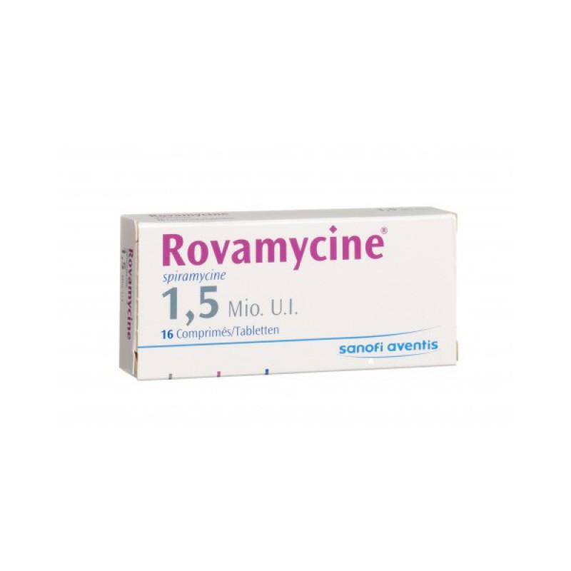 Ровамицин Rovamicin 1,5 млн/30 таблеток