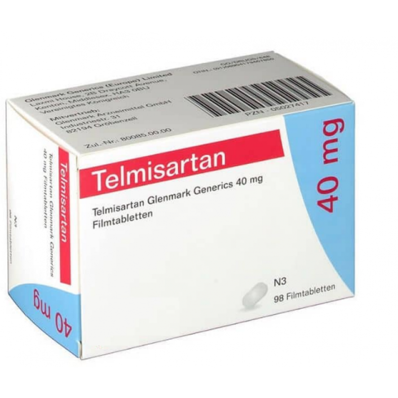 Телмисартан TELMISARTAN 40MG - 98 Шт