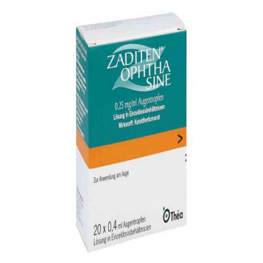 Купить Задитен ZADITEN Ophtha 0,25 mg/ml - 50 Шт в Москве
