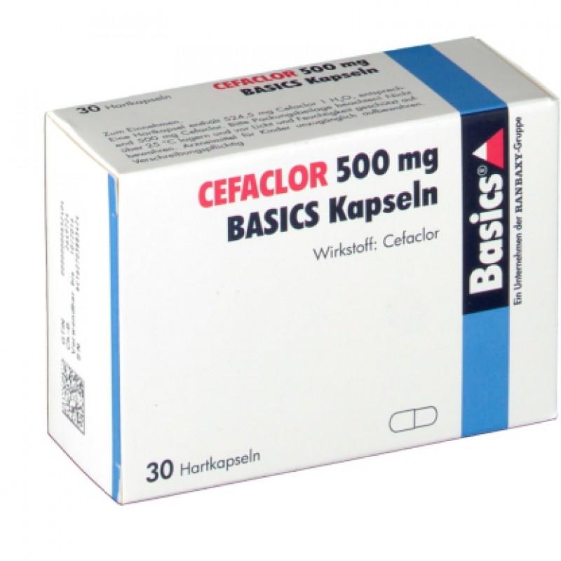 Цефаклор Cefaclor 500MG Basics KAPS/30 Шт